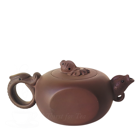 Fish & Dragon Yixing Teapot, 9 oz.