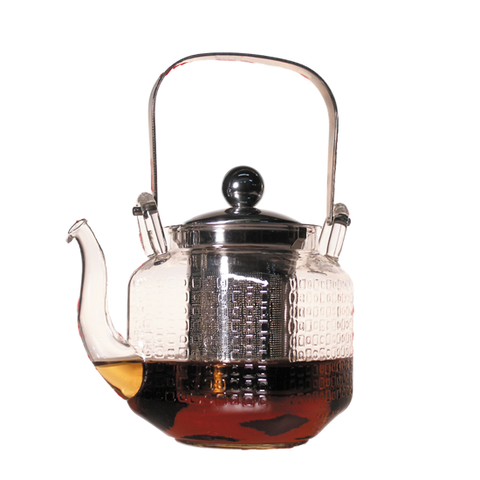 Etched Glass Teapot with Stainless Steel Infuser, 20 fl.oz