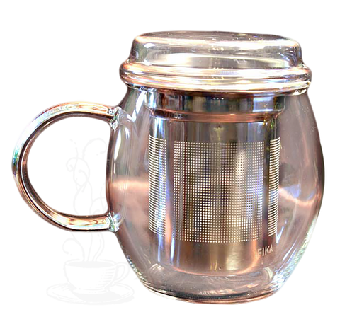 Glass Filtering Tea Mug
