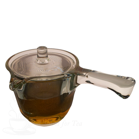 Kyusu Style Glass Teapot with Stainless Steel Infuser, 10 fl. oz.
