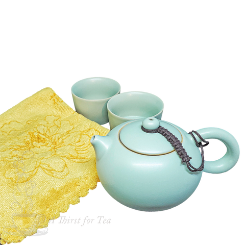 Celadon Glazed Yixing Gongfu Tea Travel Set
