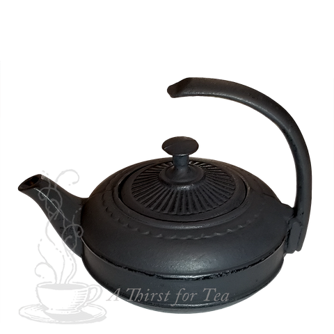 Black Himawari Cast Iron Teapot
