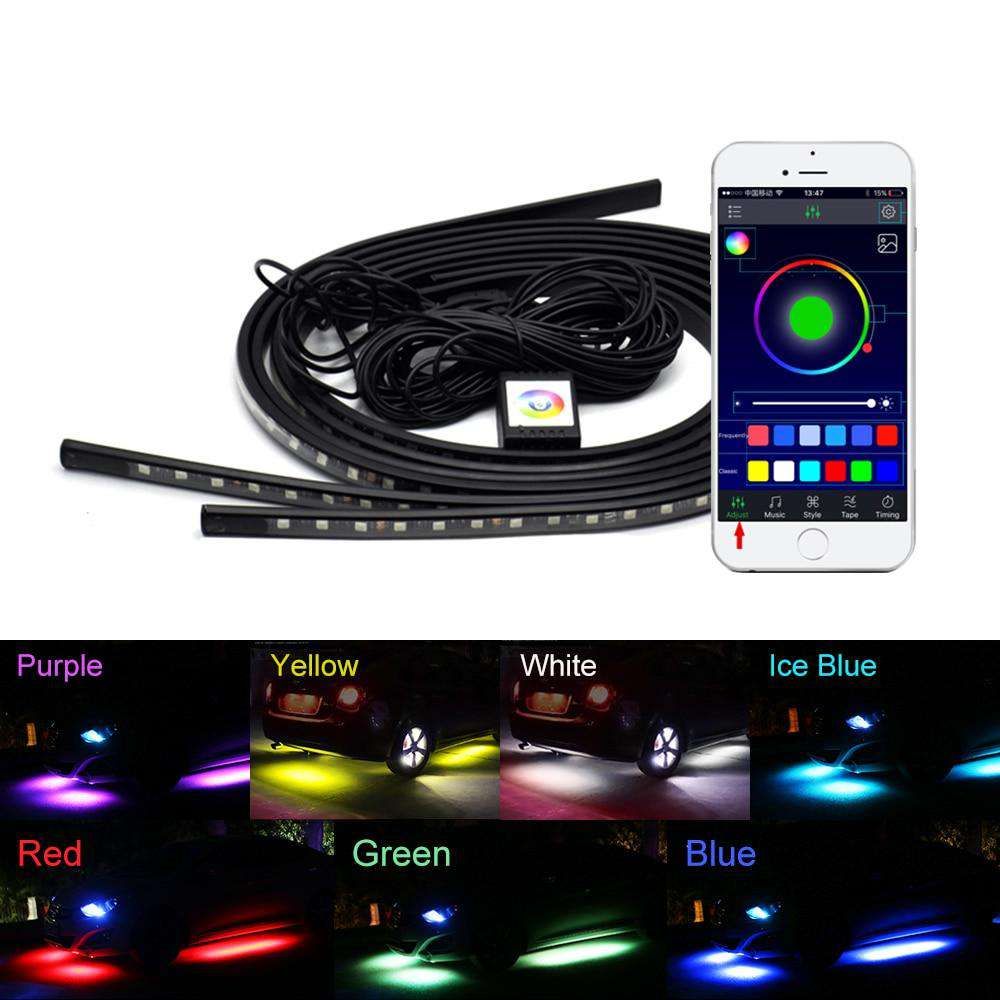 4x Car Underglow Flexible Strip LED