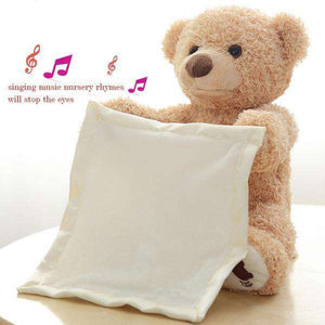 PEEK-A-BOO TEDDY BEAR KIDS TOY STUFFED ANIMAL