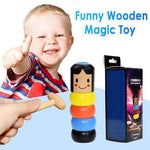 LITTLE WOODEN MAN WHO CAN'T BEAT INTERESTING MAGIC TOY(Not much stock, hurry up!!)
