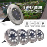 SET 4 PCS LED SOLAR POWERED IN-GROUND LIGHTS