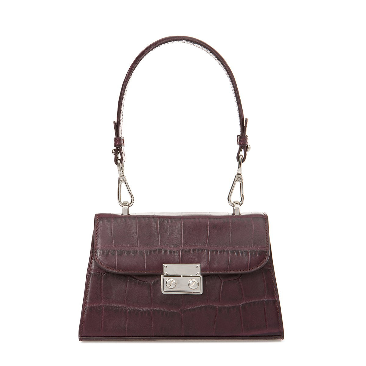 CHARLOT PETIT BAG BURGUNDY CROCO