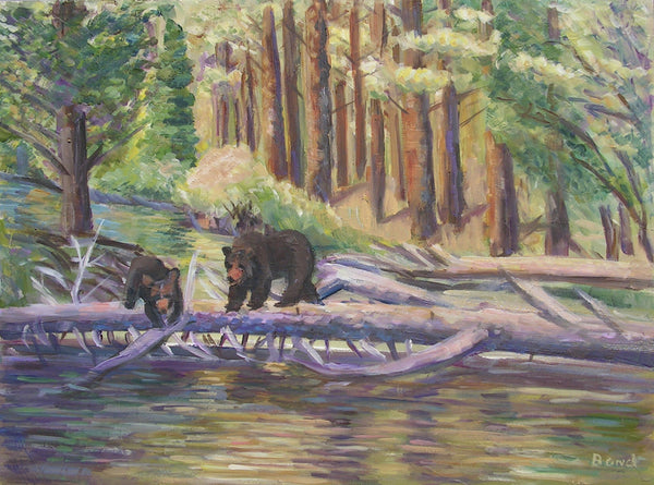 Bears On a Log