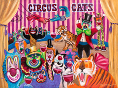 Wine-ing Cats ~ Circus Cats
