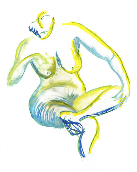 Blue and Yellow Nude