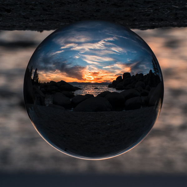 Sand Harbor in a Crystal Ball