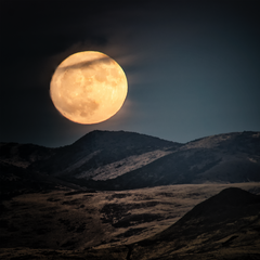 Super Moon Rising in Nevada