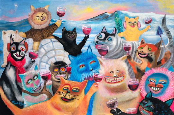 Wine-ing Cats ~ North Pole