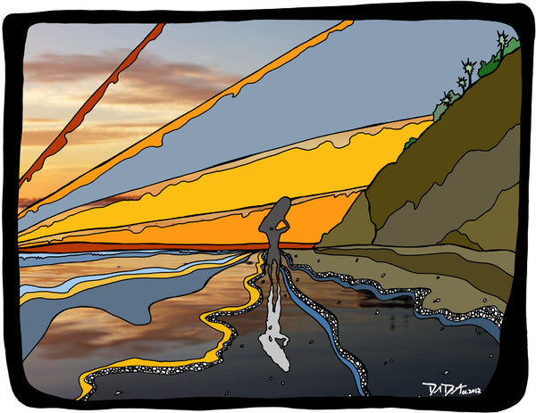 Sunset Surfer #27a