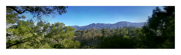 Santa Barbara Mountains Pano
