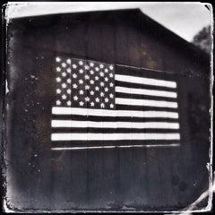 Old Barn American Flag I