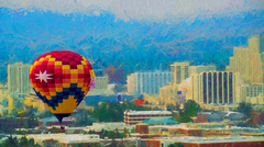Balloon over Impressionistic Reno