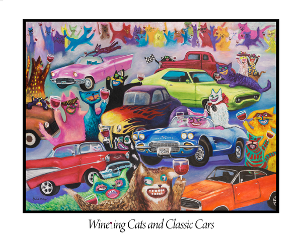 Wine-ing Cats ~ Classic Cars
