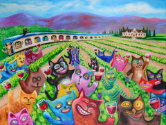 Wine-ing Cats ~ Wine Country