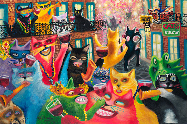 Wine-ing Cats ~ New Orleans