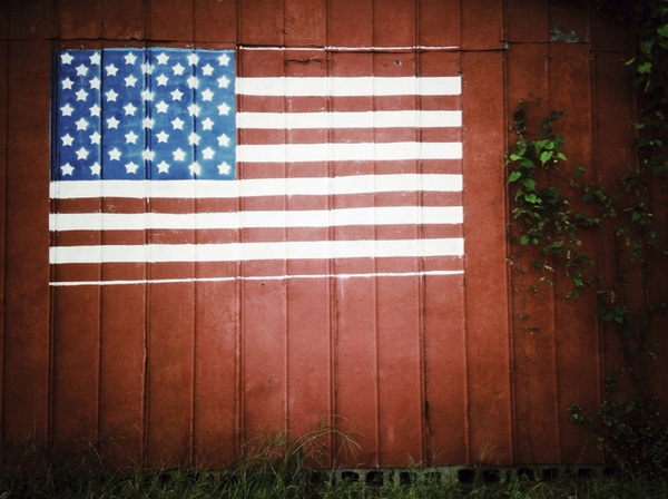 Old Barn American Flag II