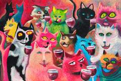 Wine-ing Cats ~ Party