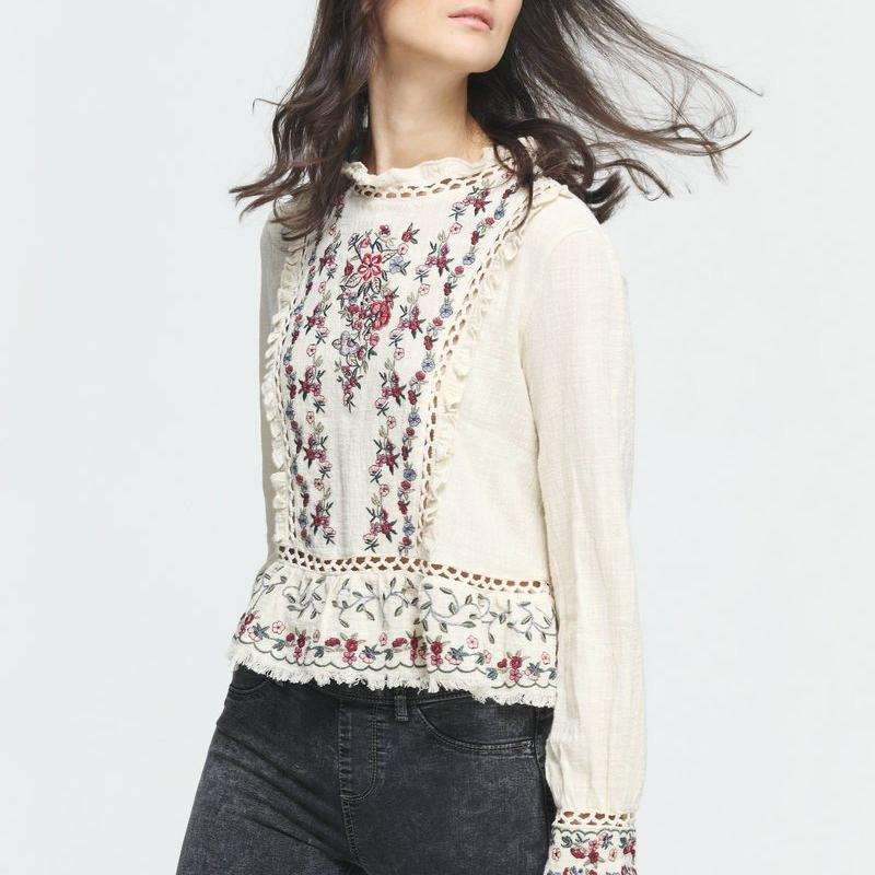Addisyn Blouse in Beige