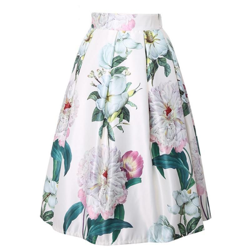 Mariana Midi Skirt in Light Floral