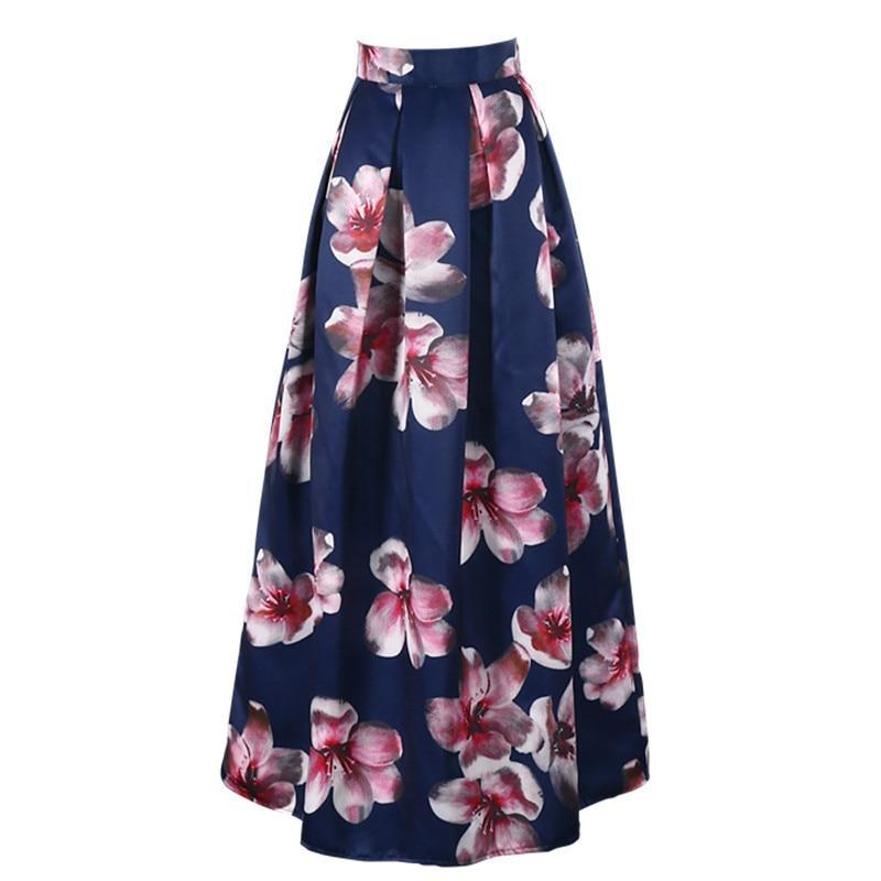 Essence Maxi Skirt in Navy Blue