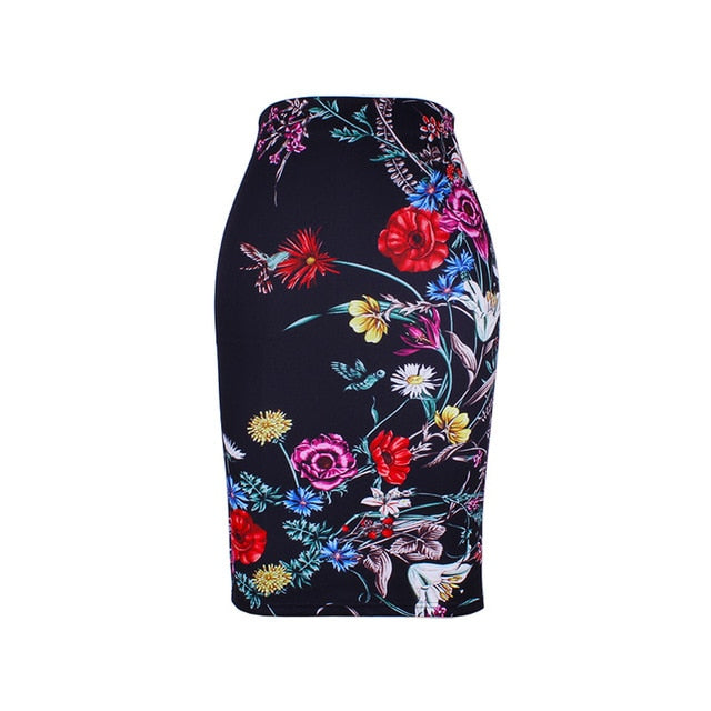 Lara Pencil Skirt in Black Batik