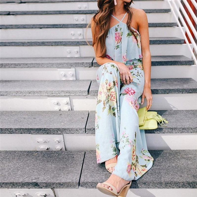 Itzelle Jumpsuit in Baby Blue