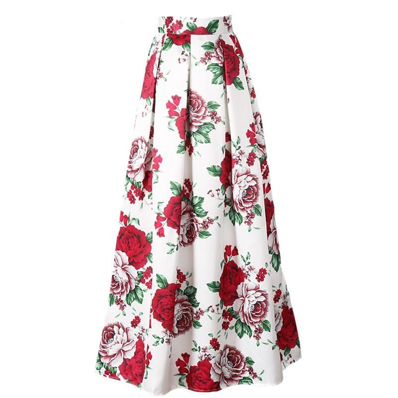 Essence Maxi Skirt in White