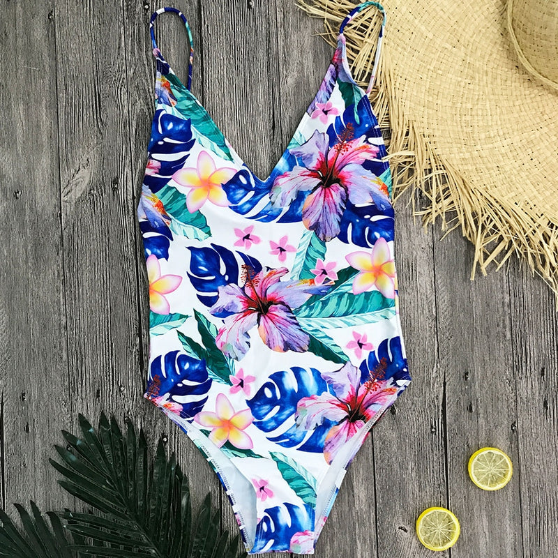 Maddison Swimsuit in Blue Floral