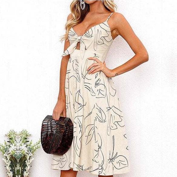 Kierra Midi Dress in White