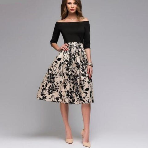 Mariana Midi Skirt in Navy Blue