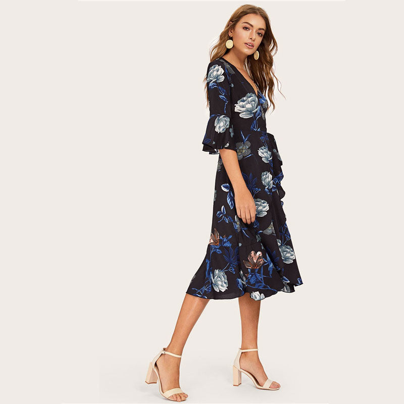 Gemma Midi Wrap Dress