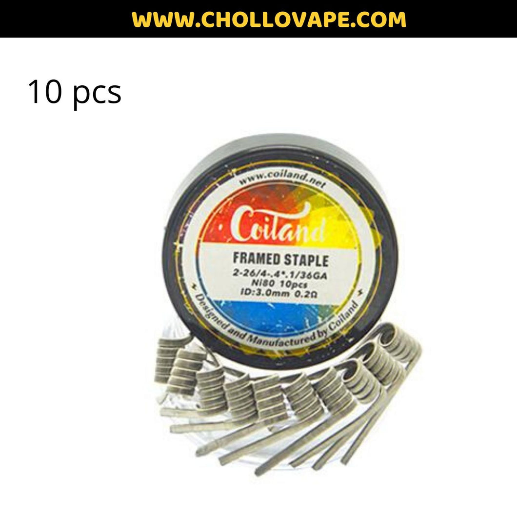 COILAND – FRAMED STAPLE Ni80 0,20 OHMS (PACK 10)