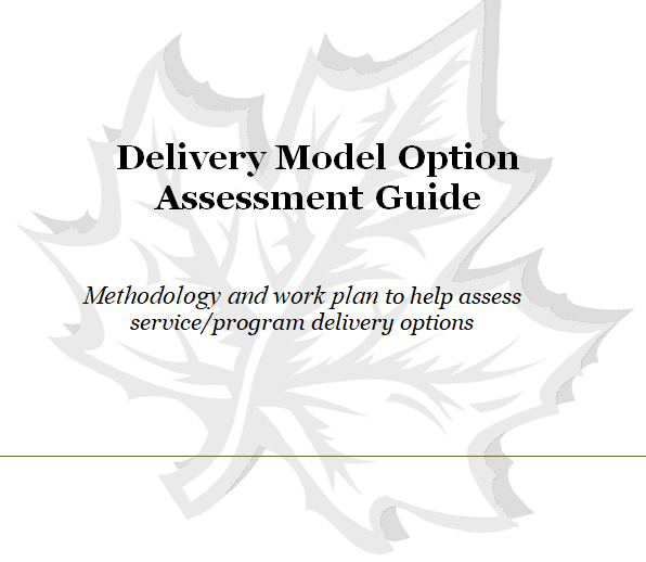 Delivery Model Option Assessment Guide (Public Sector