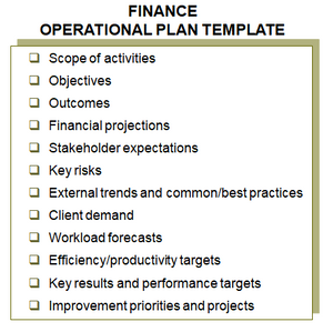 Turnkey Operational Planning Template Finance Function Govt Public Management Toolkits