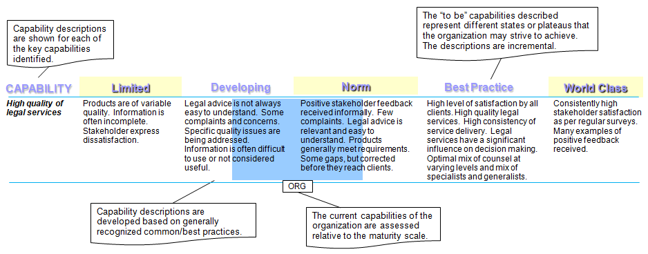 Legal Services Capability Assessment Tool