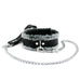 IVO Set 7-Piece Wrist Ankle Cuffs Chain Lead Collar Chic Genuine Leather