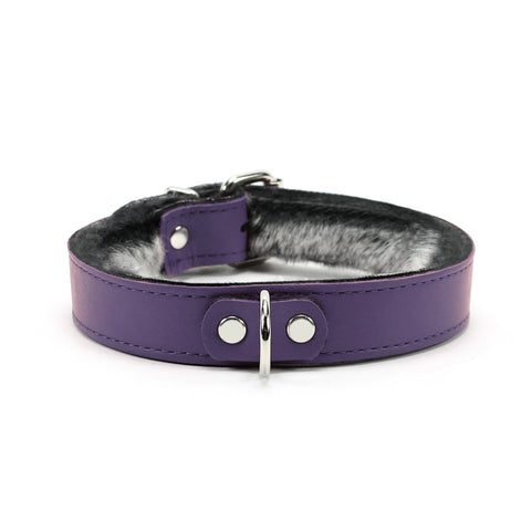 Kaytlyn Collar Handmade Leather Chinchilla Fur
