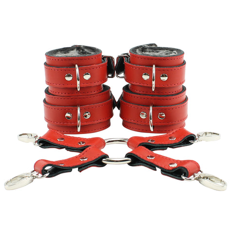 Berlin Lockable Regular Wrist Ankle Cuffs Restraining 4-Way Hogtie