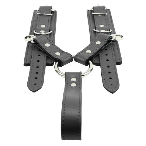 Berlin Lockable Regular Wrist Cuffs with Comfortable Handle Hogtie Superior Leather