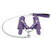 Berlin Lockable Regular Fur Wrist Cuffs Chain Hogtie Metal Hardware Reliable Restraint