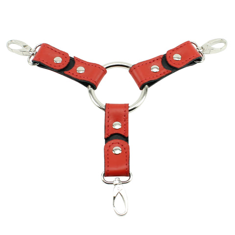 Bonn 3-Way Latigo Leather Hogtie for Bondage Cuffs Restraints Kit