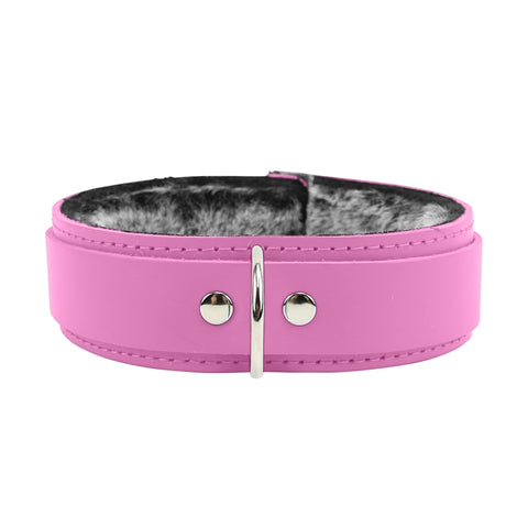 "Atlas V 1.5"" Collar Luxury Chinchilla Fur Leather Collar"