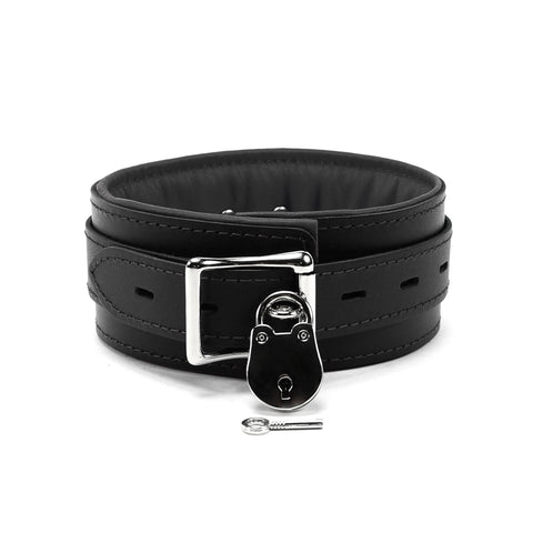 bdsm lockable collar slave