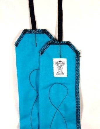 Turquoise Blue with Black Stitching