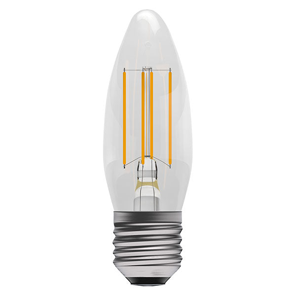 4W LED Filament Candle - ES, Clear, 2700K